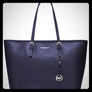 MK Michael Kors black tote laptop bag